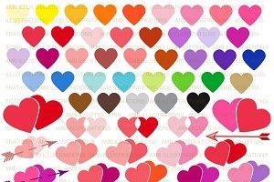Valentines Hearts Clipart AMB-1146