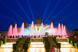 Magic Fountain light show, Barcelona