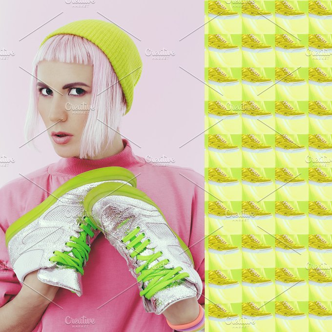 Sneakers in your life. Fashion colla - Beauty & Fashion