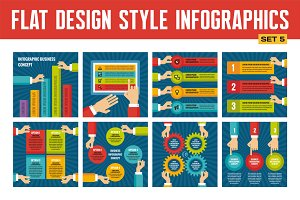 Infographics with Human Hands