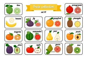 Collection of Cards with Fruits
