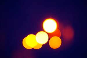 bokeh lights night