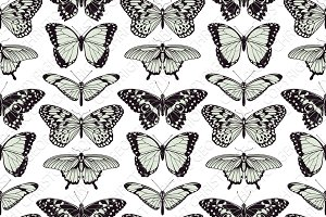 Butterfly seamless vintage backgroun