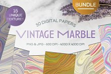 Retro Vintage Marble Digital Paper by  in Graphics