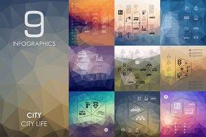 9 city infographics