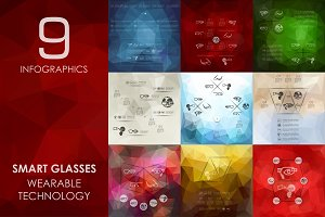 9 high-tech glasses infographics