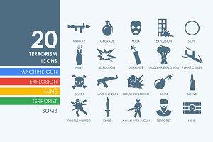 20 terrorism icons