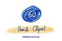 60 PNG pencil decor clipart
