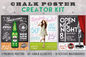 Chalk Poster Ad Creator Kit
