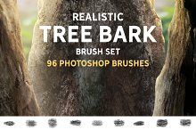 Realistic Tree bark brush set by  in Add-Ons