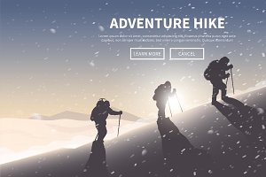 Hiking web banner