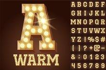 Light up warm white alphabet