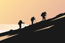 Hiking vector poster
