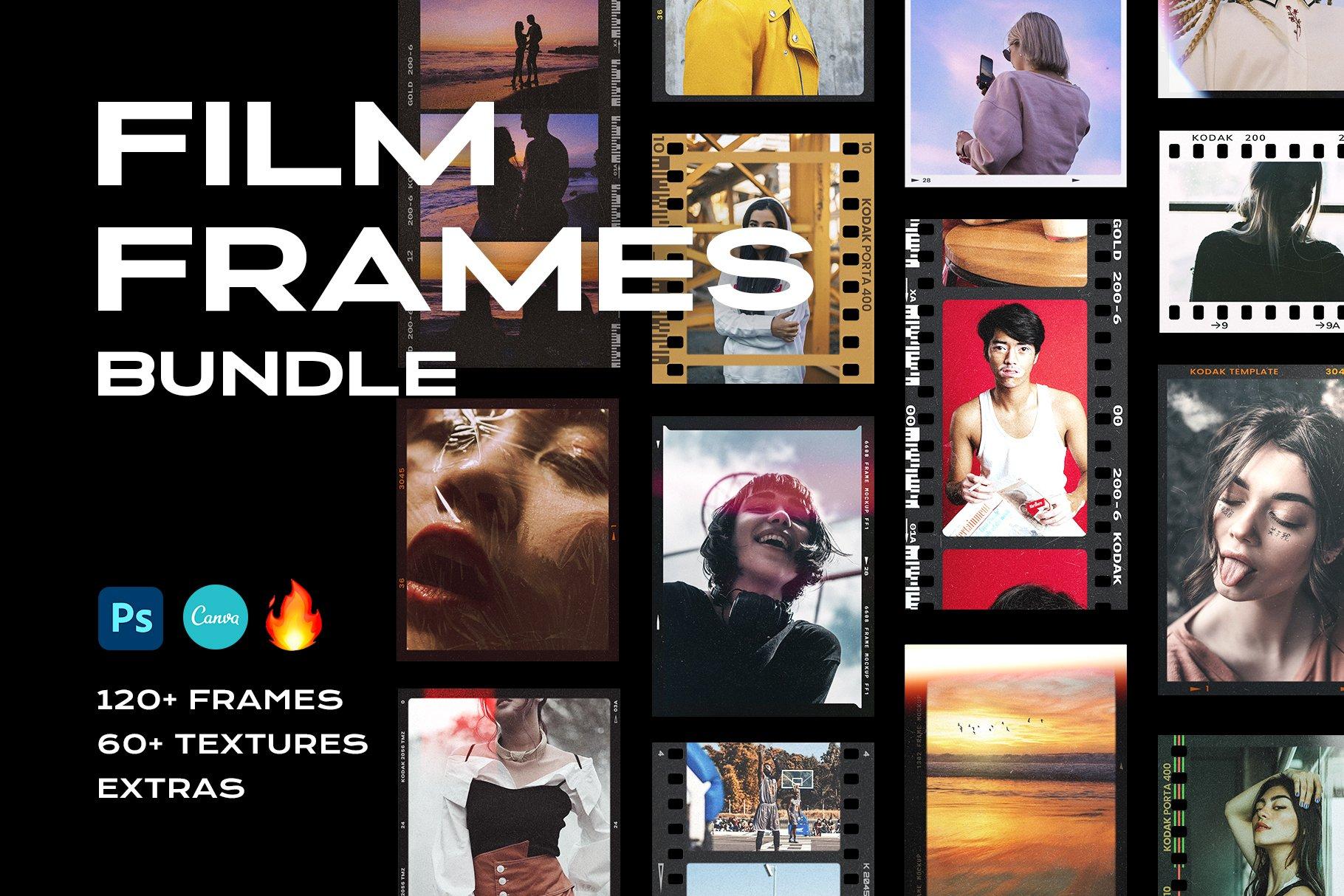Film Frame Mockup Template Bundle
