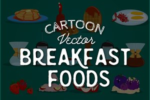 Cartoon Breakfast & Coffee Graphics