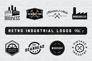 Retro Industrial Logos - Volume 1