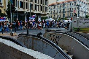 Greek street protests