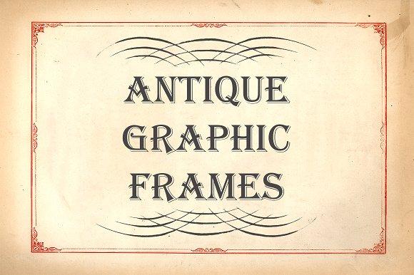 Antique Graphic Frames ~ Textures ~ Creative Market