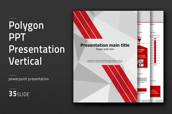 Polygon PPT Presentation Vertical