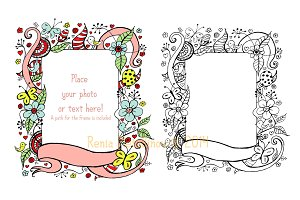 Flower ink frame