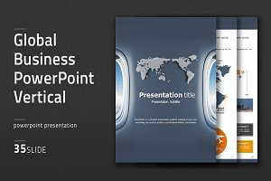 Global Business PowerPoint Vertical