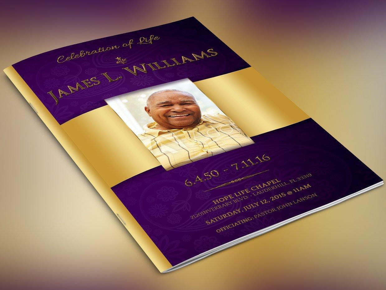Men funeral program Photos, Graphics, Fonts, Themes, Templates ...