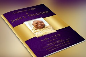 Regal Funeral Program Large PSD