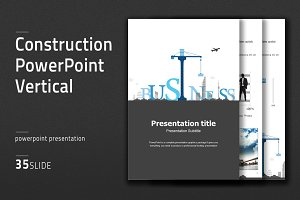 Construction PowerPoint Vertical