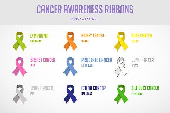 Cancer Awareness Ribbons Illustrations Creative Market