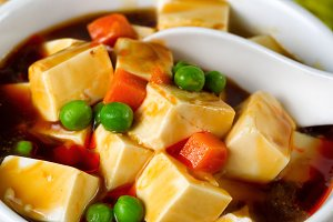 Healthy Tofu Soup with Veggies