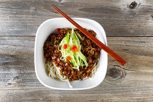 Noodle and spicy ground beef