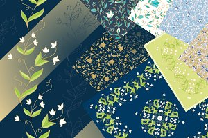 Seamless patterns with campanula