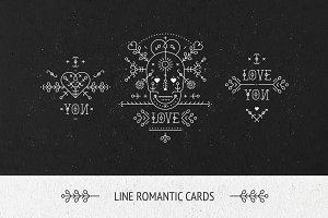 Line love cards