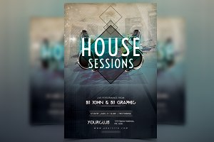 House Sessions - PSD Flyer