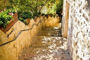 Old Jerusalem stone stairs