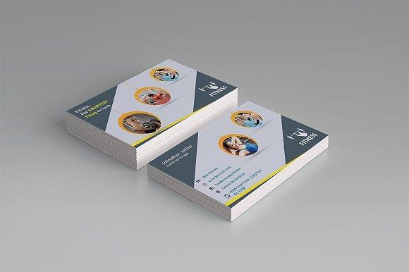 Fitness business card business card templates creative market colourmoves