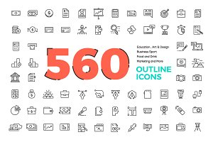 560 Modern Line icons Pack