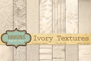 Ivory Textures Digital Paper