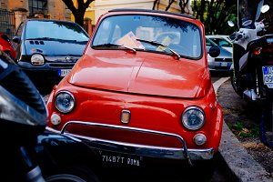 Car on the streets of Rome