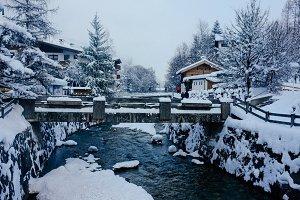 Alpine village in Tirol Alps