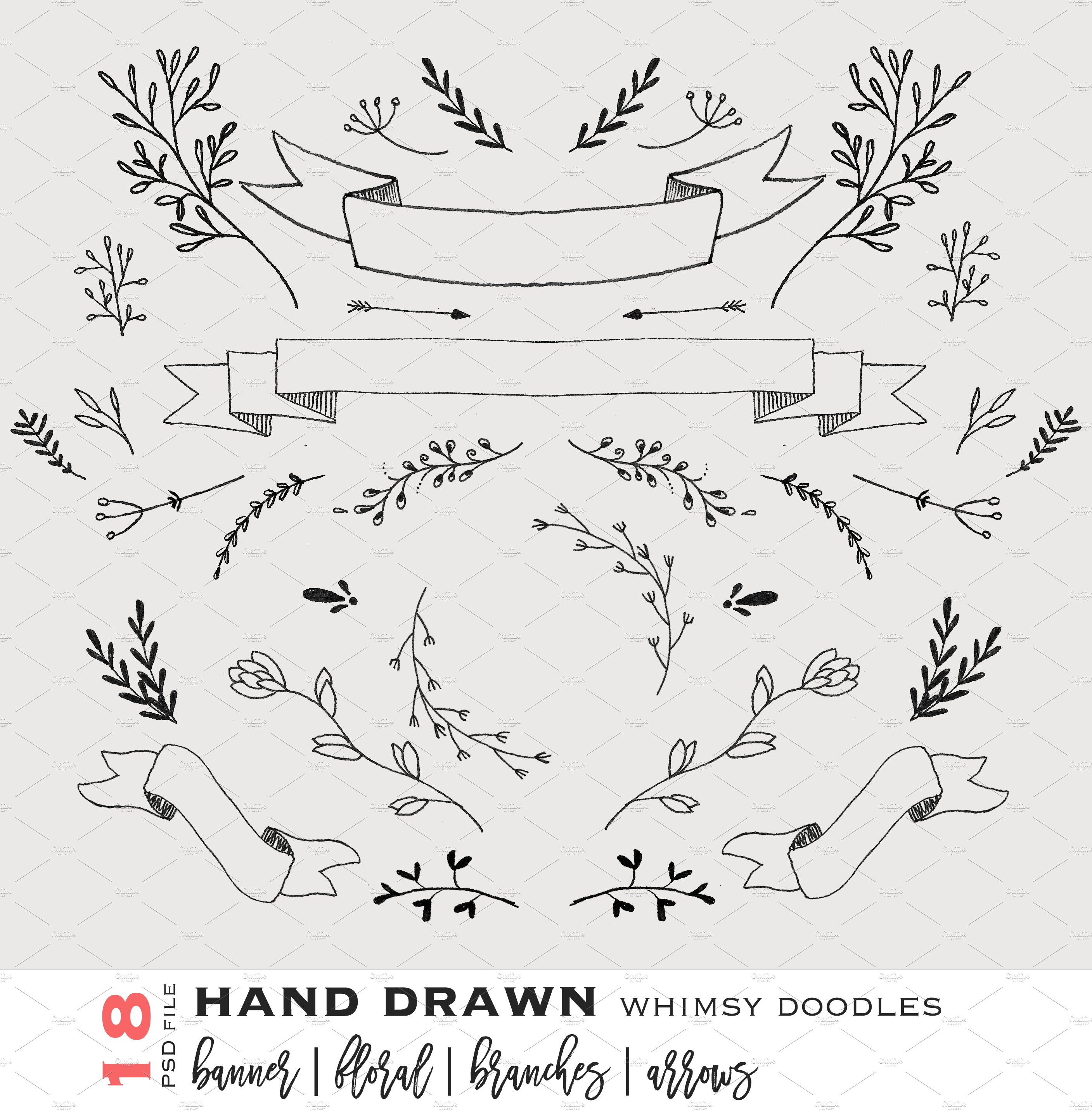 Hand-sketched Vector mini pack ~ Illustrations ~ Creative