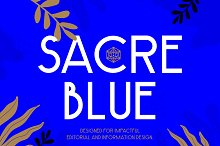 Sacre Blue - Elegant Geometric Font by  in Fonts