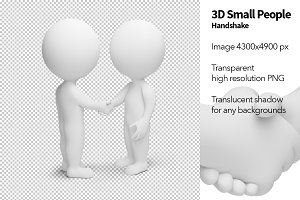 3D Small People - Handshake