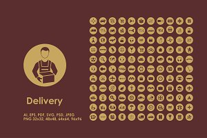 Delivery simple icons