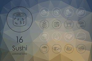 Sushi line icons