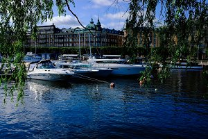 Stockholm bay in the city center