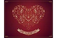 Saint valentine's day design