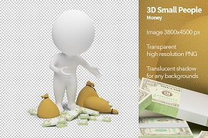 3D Small People - Money