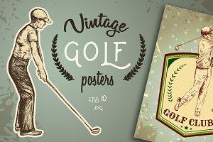 "Vintage posters ""Golf"""