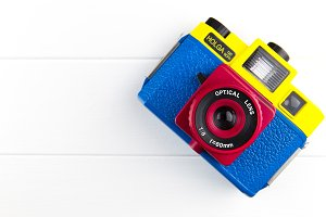 Colourful cute camera